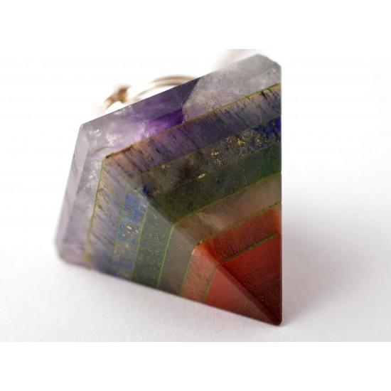 Ametiszt-Aventurin-Jáspis-Lápisz lazuli Inga