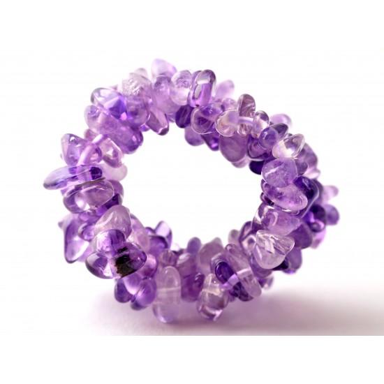 Ametiszt-Hegyikristály Gyűrű