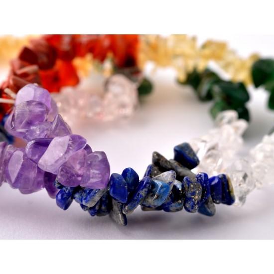 Ametiszt-Aventurin-Citrin-Hegyikristály-Jáspis-Karneol-Lápisz lazuli Karkötő