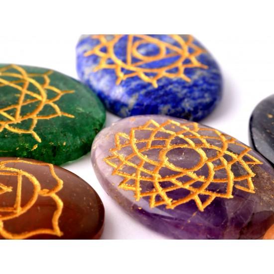 Ametiszt-Aranykvarc-Aventurin-Jáspis-Lápisz lazuli Csakra kő