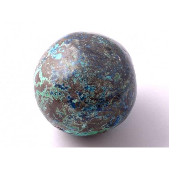 Azurit-Krizokolla-Malachit Ásvány tojás