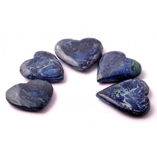 Azurit-Malachit szív dísztárgy
