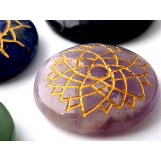 Ametiszt-Aventurin-Jáspis-Lápisz lazuli Csakra kő
