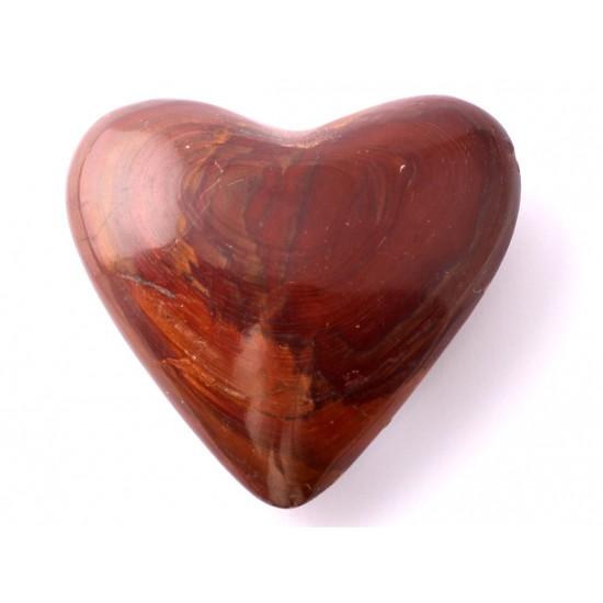 Egyedi jáspis szív dísztárgy