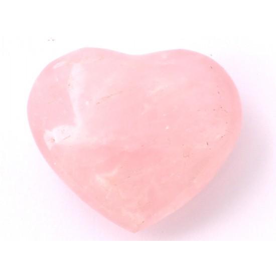 Rózsakvarc szív dísztárgy